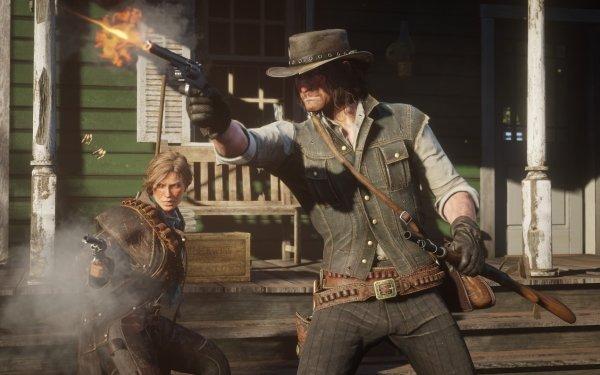 Video Game Red Dead Redemption 2 Red Dead Sadie Adler John Marston HD Wallpaper   Background Image