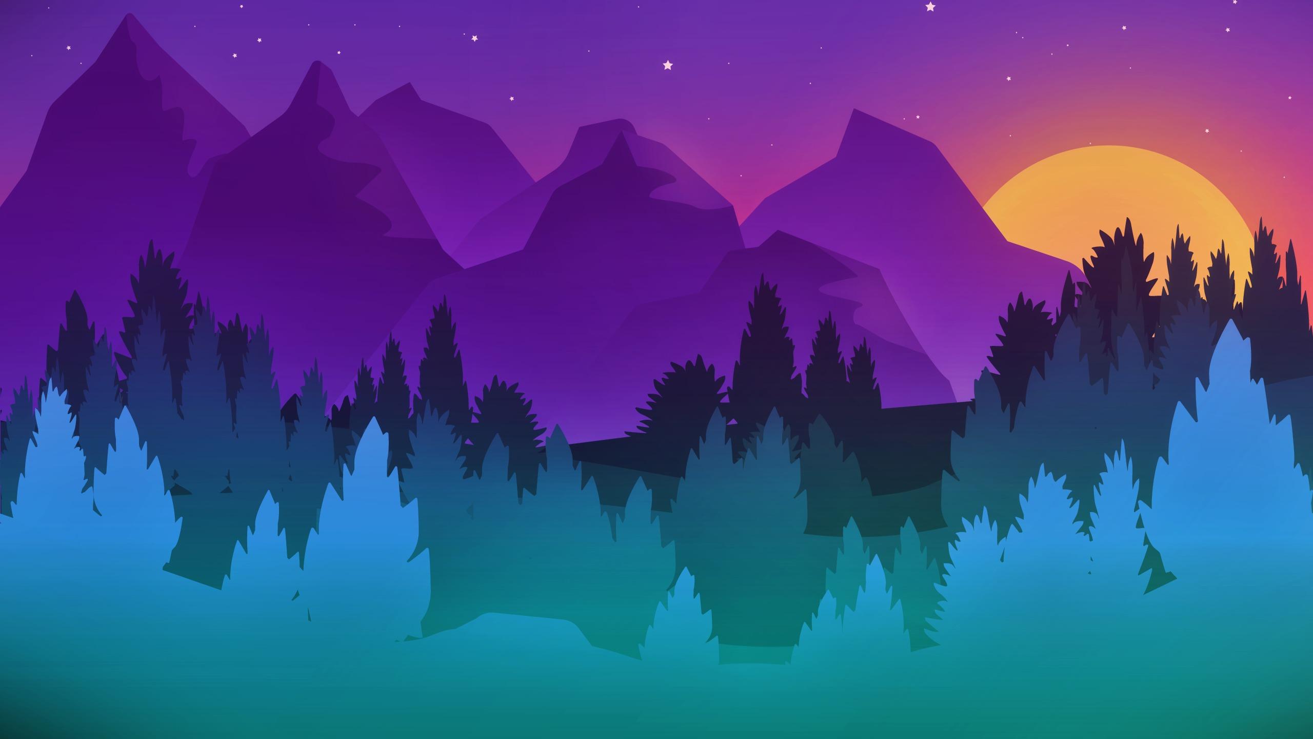 Simple Landscape Hd Wallpaper Background Image 2560x1440