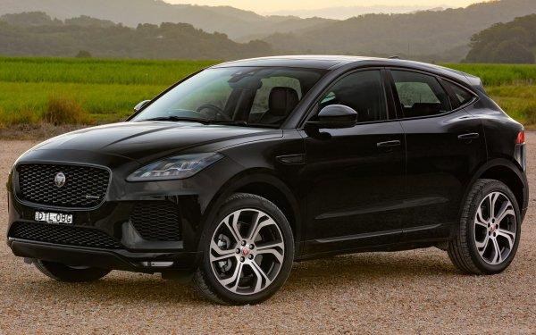 Vehicles Jaguar E-Pace Jaguar Jaguar E-Pace R-Dynamic Subcompact Car Crossover Car SUV Luxury Car Black Car Car HD Wallpaper | Background Image