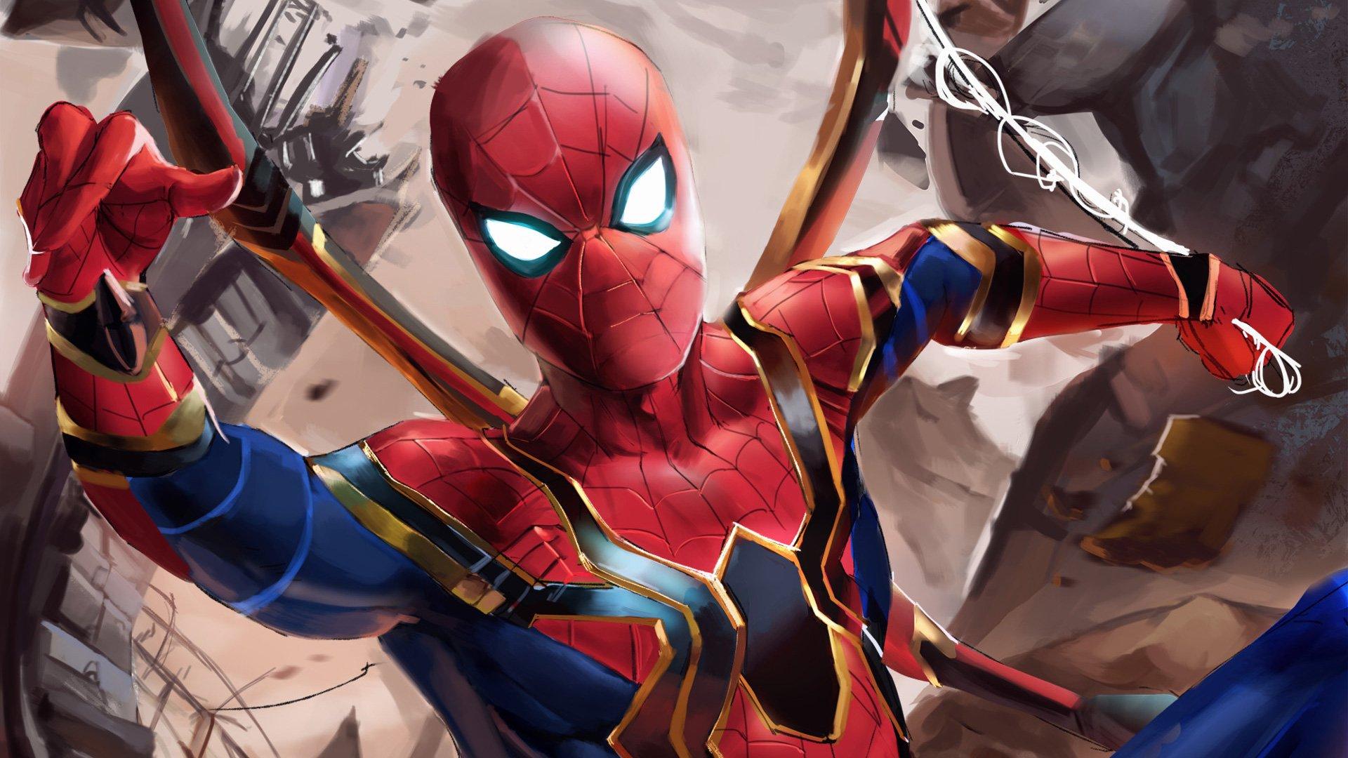 Iron Spider Suit In Avengers Infinity War Hd Wallpaper