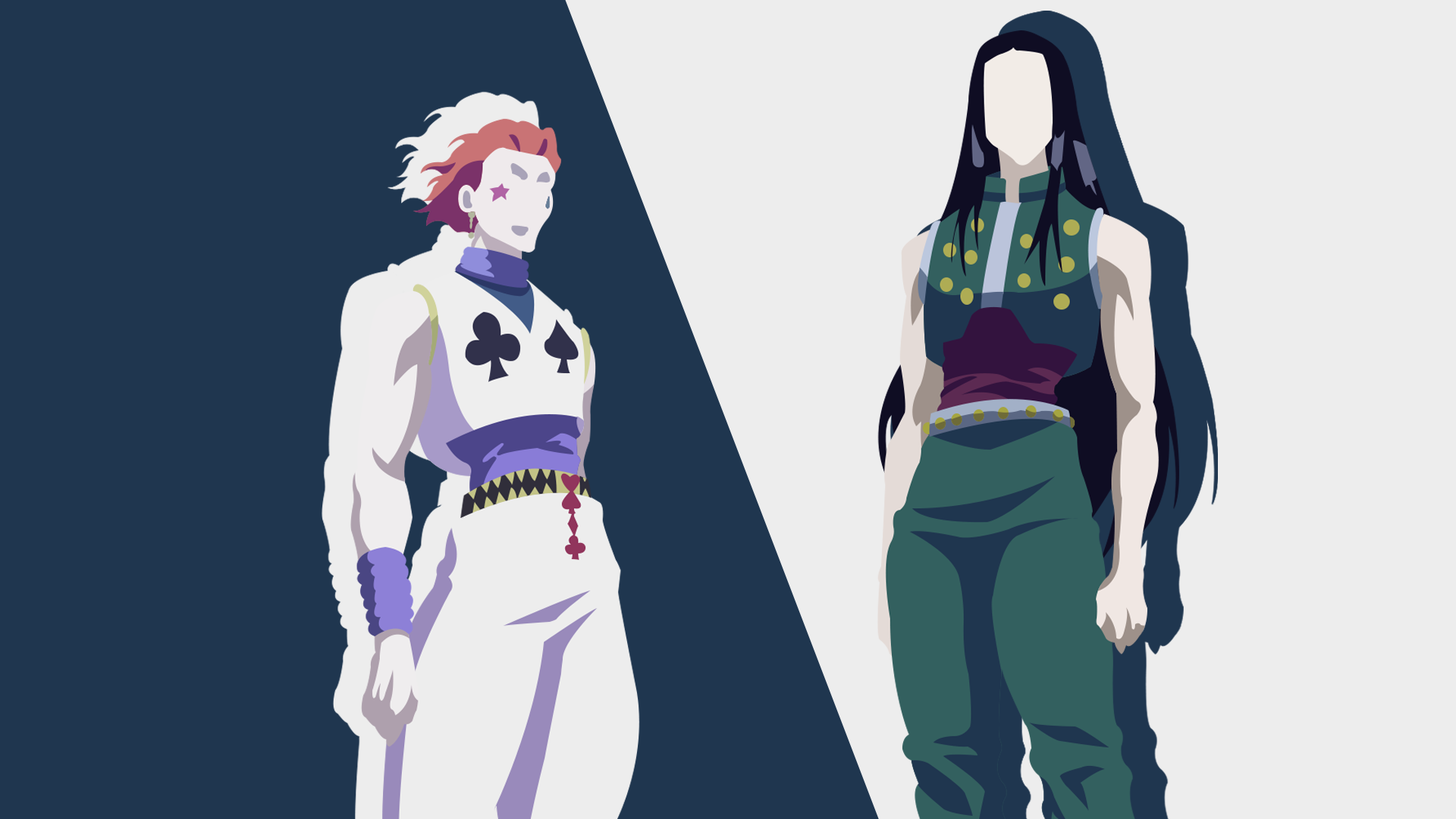Illumi Zoldyck And Hisoka Morow From Hunter X Hunter
