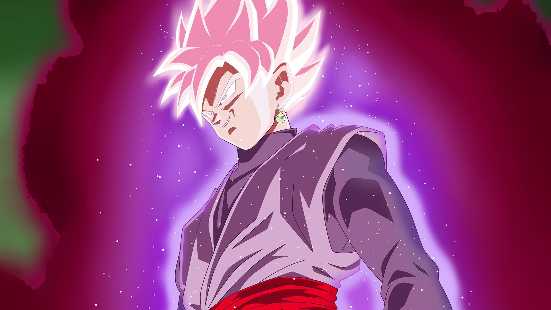 Dragon Ball Super Black Goku Super Sayan Rosè Fondo De