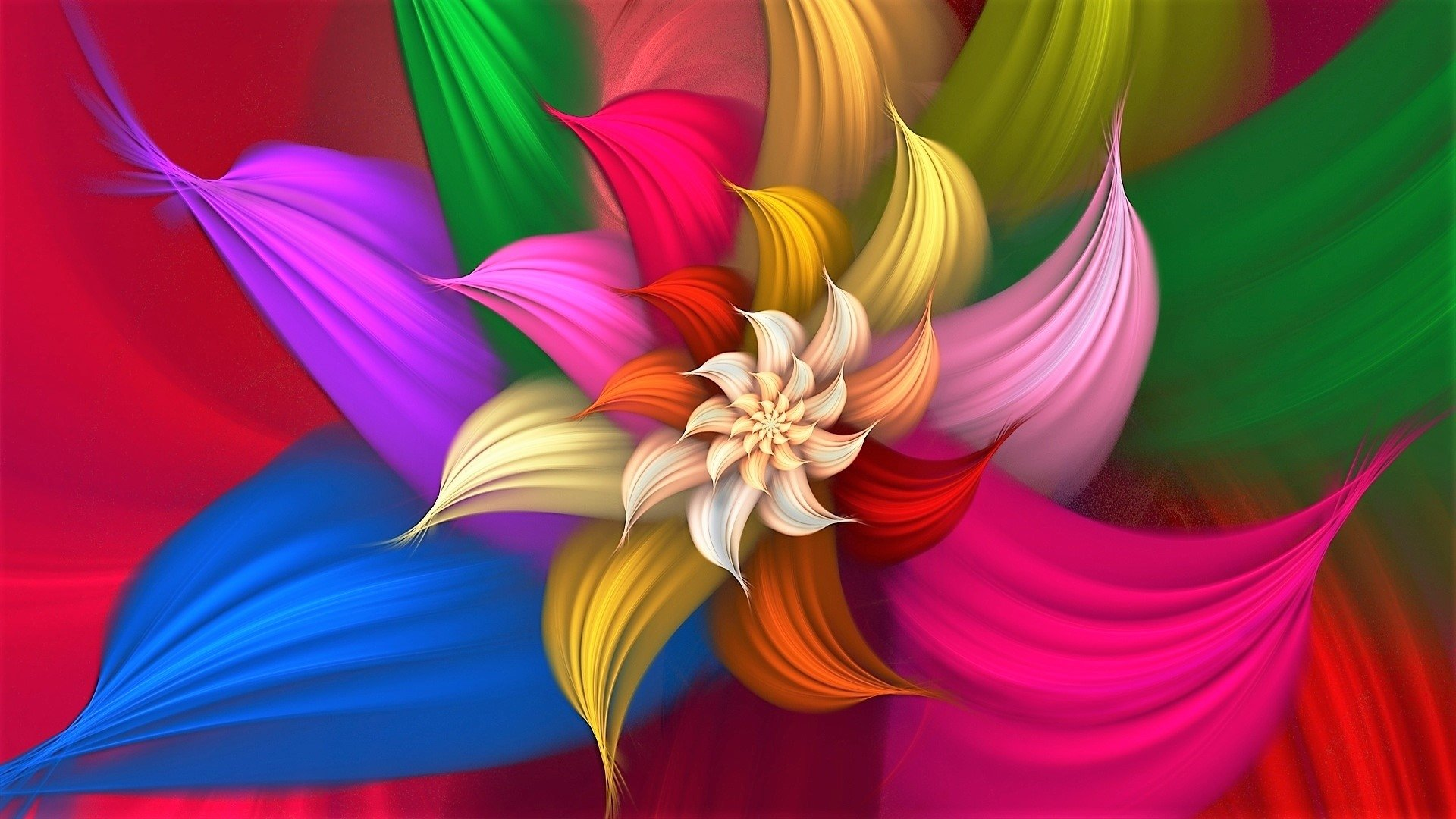 Colorful Abstract Flower Hd Wallpaper Hintergrund