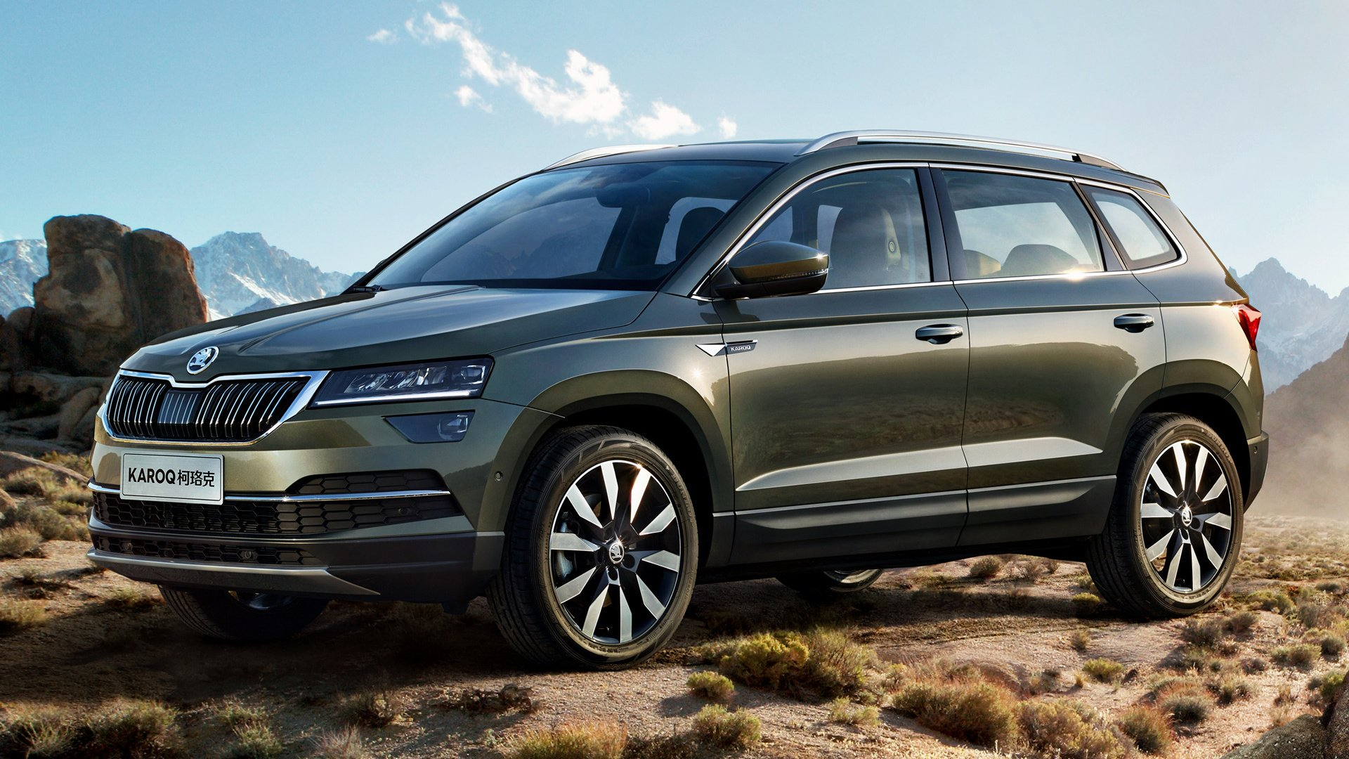 2018 Skoda Karoq In The Mountains Hd Wallpaper Background Image 1920x1080 Id 926336 Wallpaper Abyss