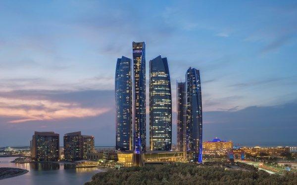 Man Made Etihad Towers Abu Dhabi United Arab Emirates Building HD Wallpaper   Background Image