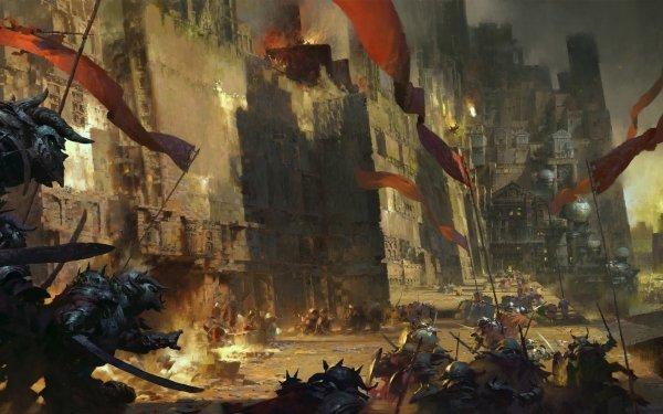 Fantasy Battle Banner Warrior Castle HD Wallpaper | Background Image