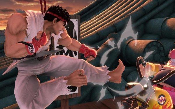 Jeux Vidéo Super Smash Bros. Ultimate Ryu Wario Fond d'écran HD | Arrière-Plan