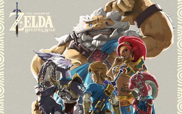 Video Game The Legend of Zelda: Breath of the Wild Zelda Link Mipha Urbosa Revali Daruk HD Wallpaper | Background Image