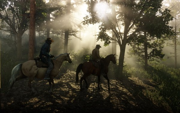 Video Game Red Dead Redemption 2 Red Dead Forest Horse Red Dead Redemption Lenny Summers HD Wallpaper | Background Image