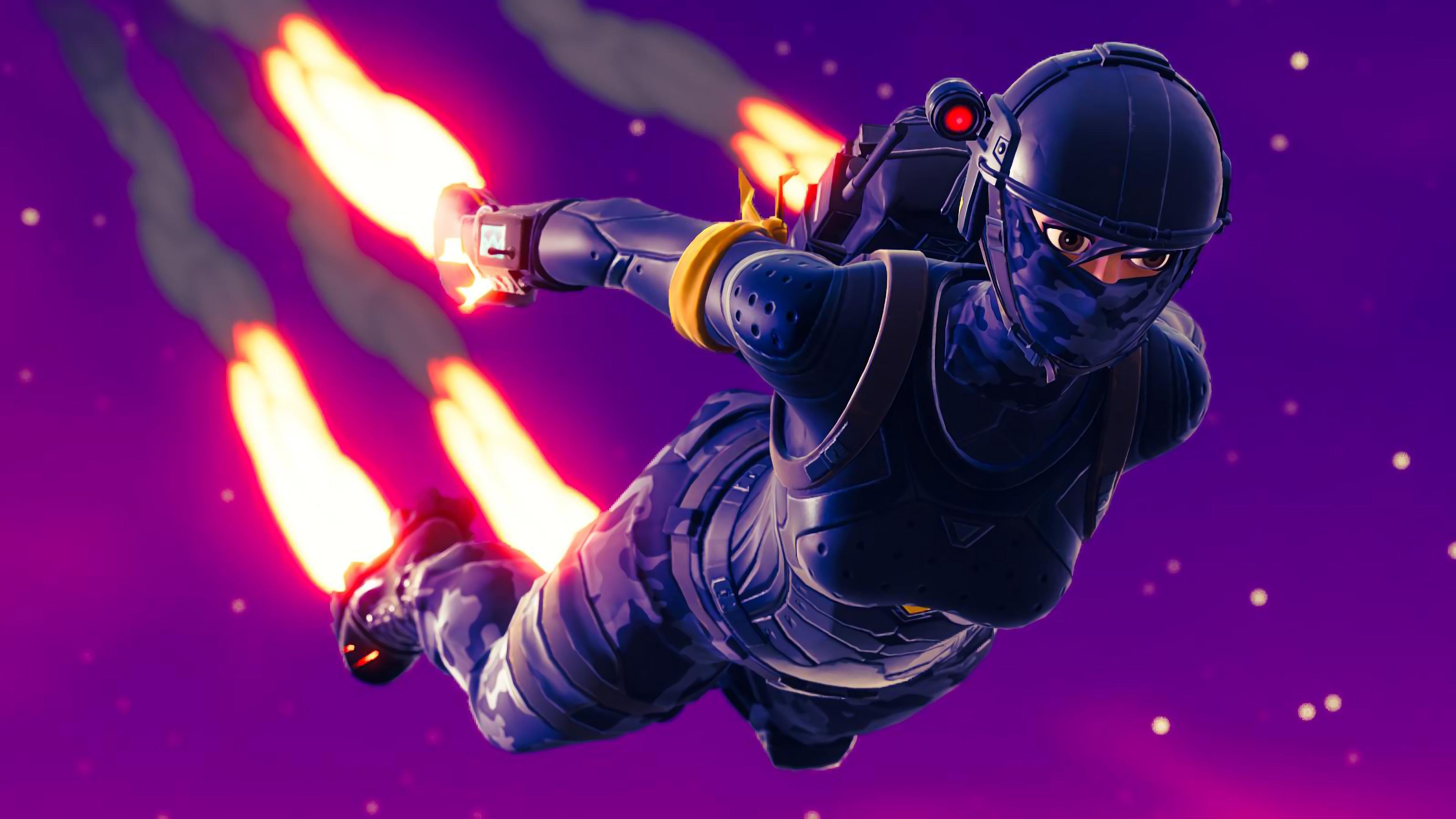 Elite Agent Skydive Fortnite Battle Royale 3d 4k Ultra Fondo