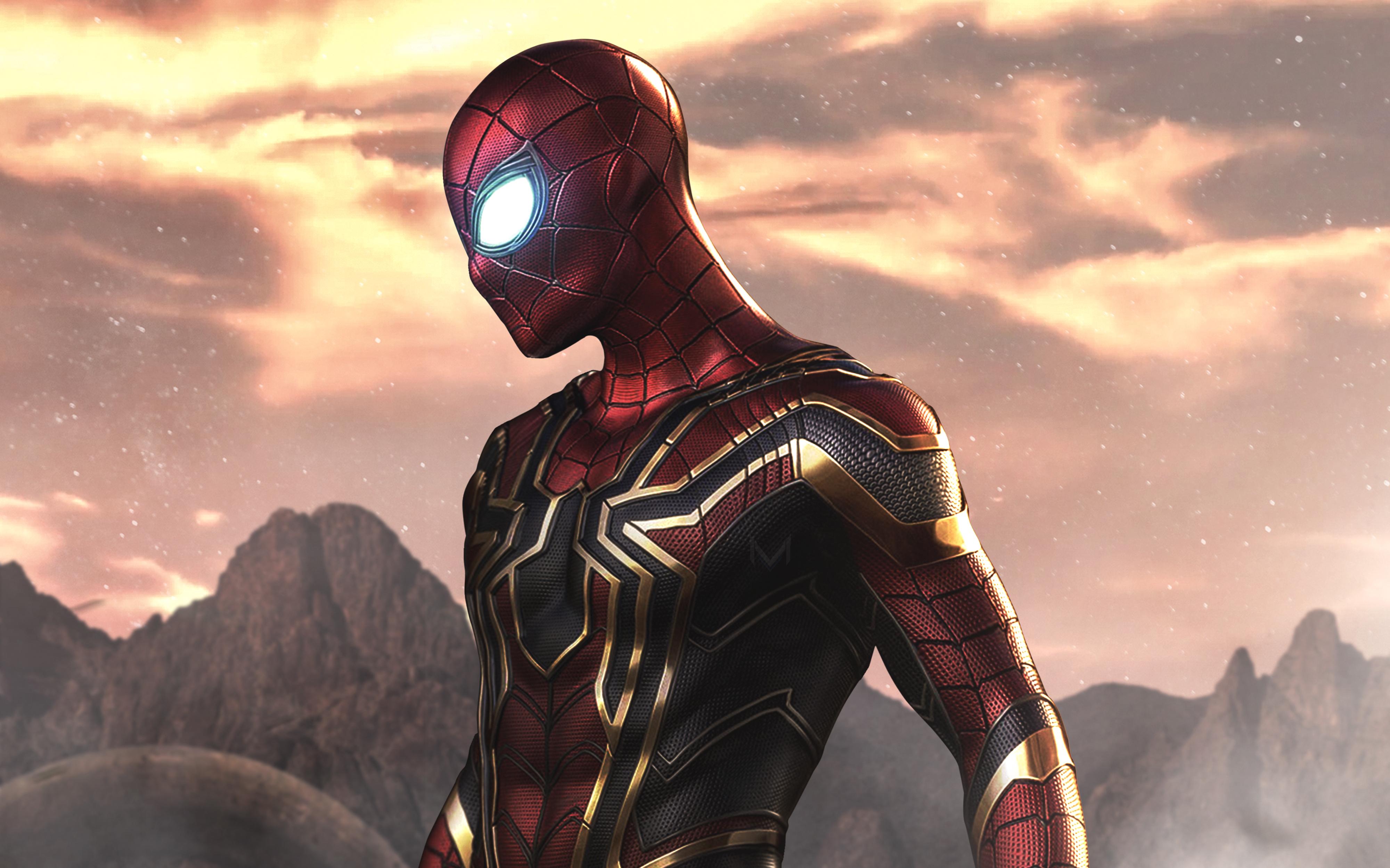 The Iron Spider 4k Ultra Hd Wallpaper Hintergrund