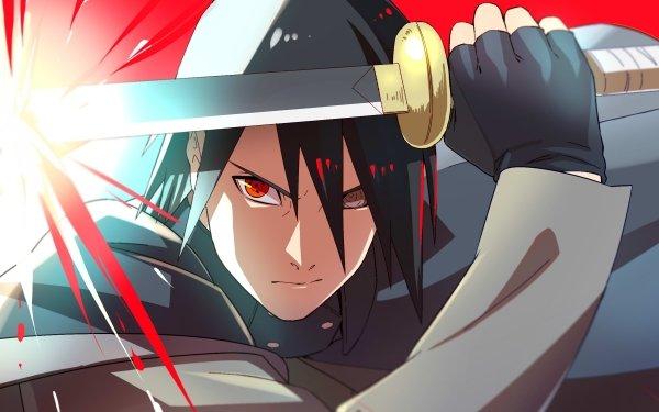 Anime Naruto Sasuke Uchiha Sharingan Rinnegan Sword Black Hair HD Wallpaper   Background Image