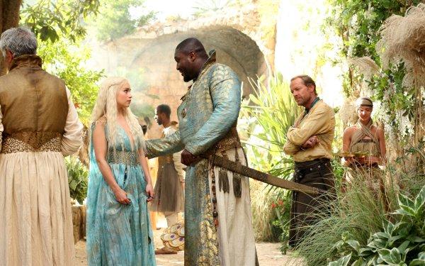 TV Show Game Of Thrones Daenerys Targaryen Jorah Mormont Xaro Xhoan Daxos Emilia Clarke Nonso Anozie Iain Glen HD Wallpaper | Background Image