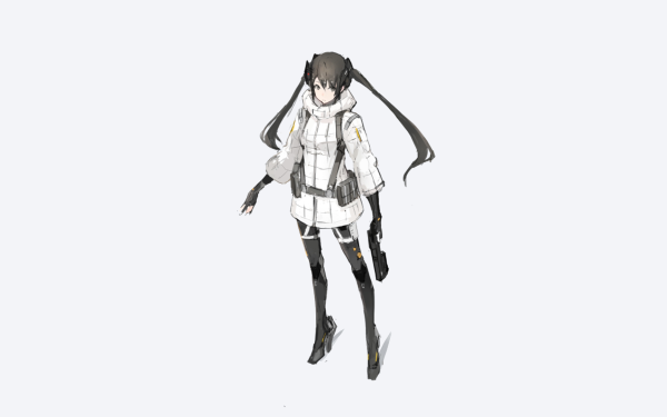 Anime Original Black Hair Twintails Long Hair Black Eyes Gun HD Wallpaper   Background Image
