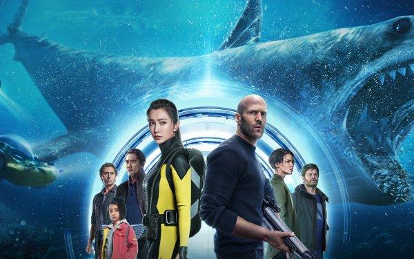 Movie The Meg Jason Statham Ruby Rose Li Bingbing Rainn Wilson Shark Cliff Curtis Megalodon HD Wallpaper | Background Image