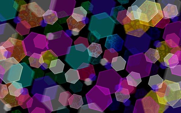 Artistic Bokeh Colors Hexagon HD Wallpaper | Background Image