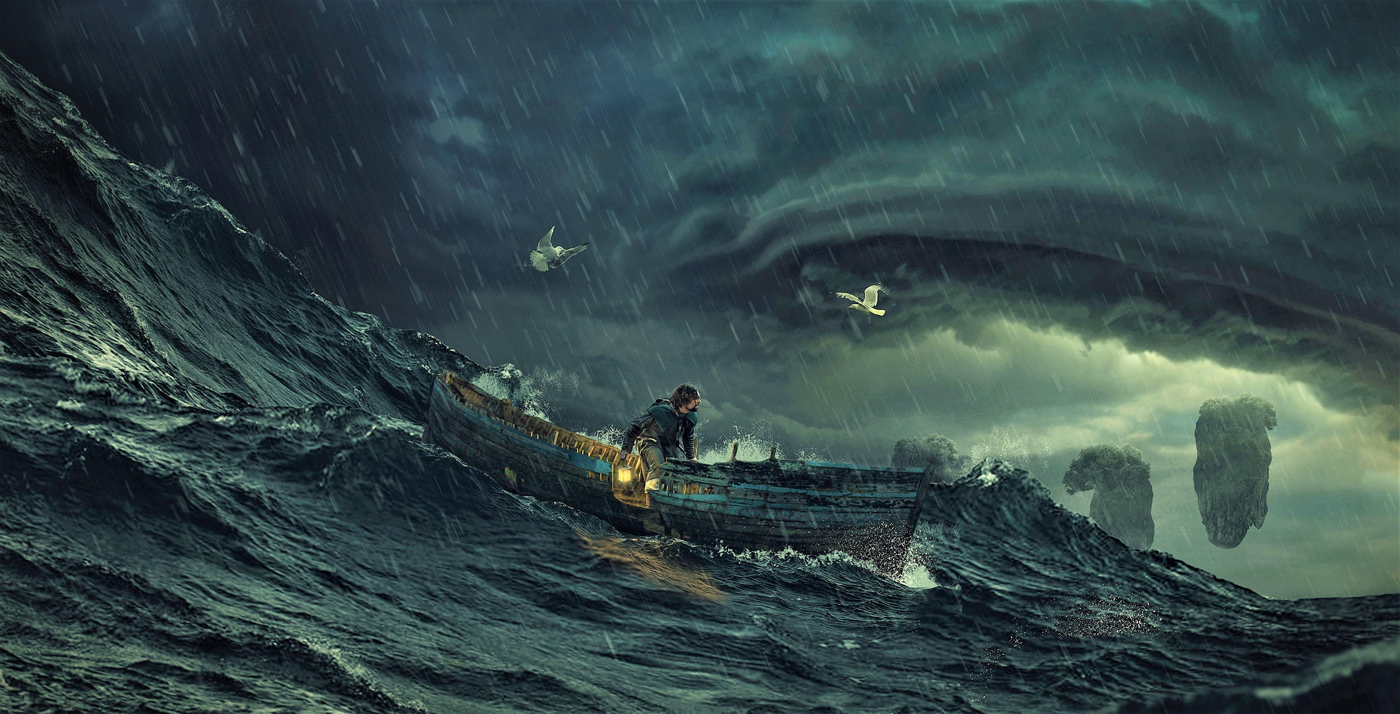 Storm At Sea 4k Ultra Fondo De Pantalla Hd Fondo De