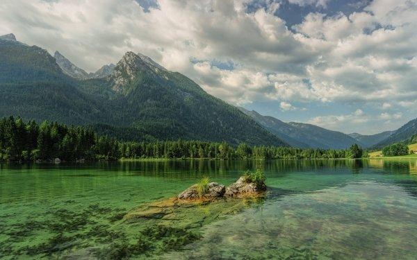 Earth Lake Lakes Mountain Bavaria Germany Landscape HD Wallpaper | Background Image