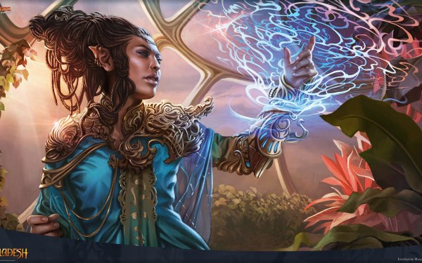 Game Magic: The Gathering Rashmi Eternities Crafter Kaladesh Elf Druid HD Wallpaper   Background Image