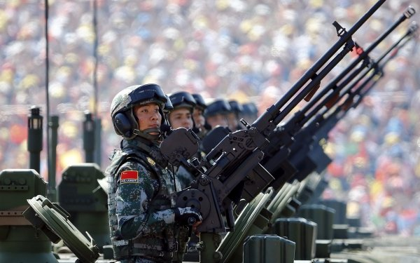 Military Soldier Chinese Army Army Machine Gun Man HD Wallpaper | Background Image