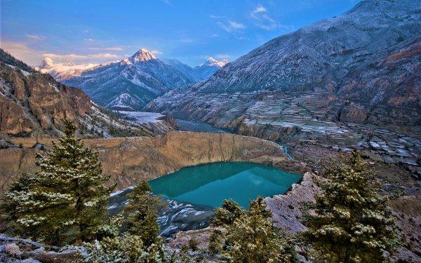 Earth Lake Lakes Canyon Mountain Banff National Park Canada HD Wallpaper | Background Image