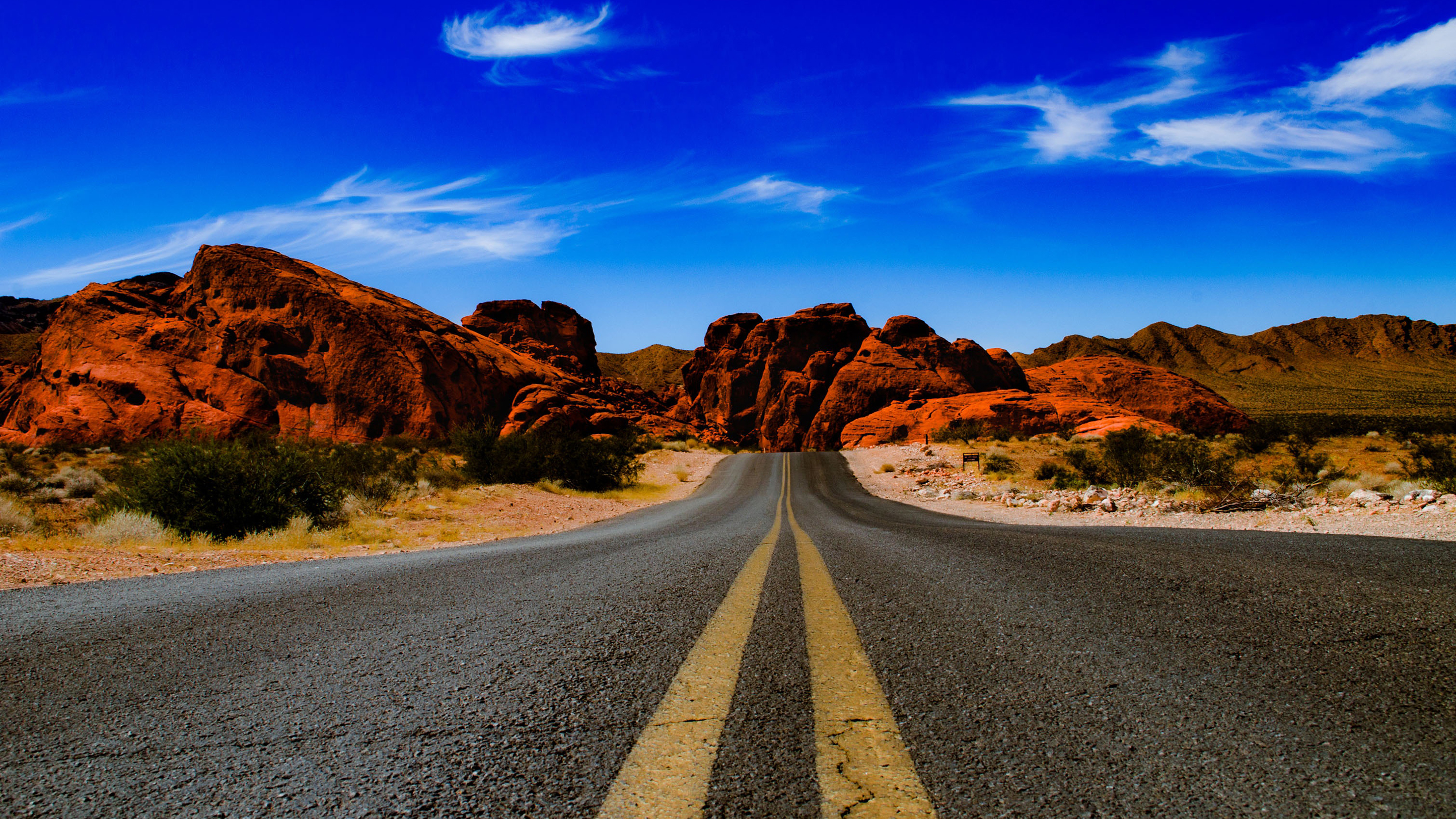 Valley of fire state park road hd wallpaper background image 3000x1688 id 945243 - Nevada wallpaper hd ...