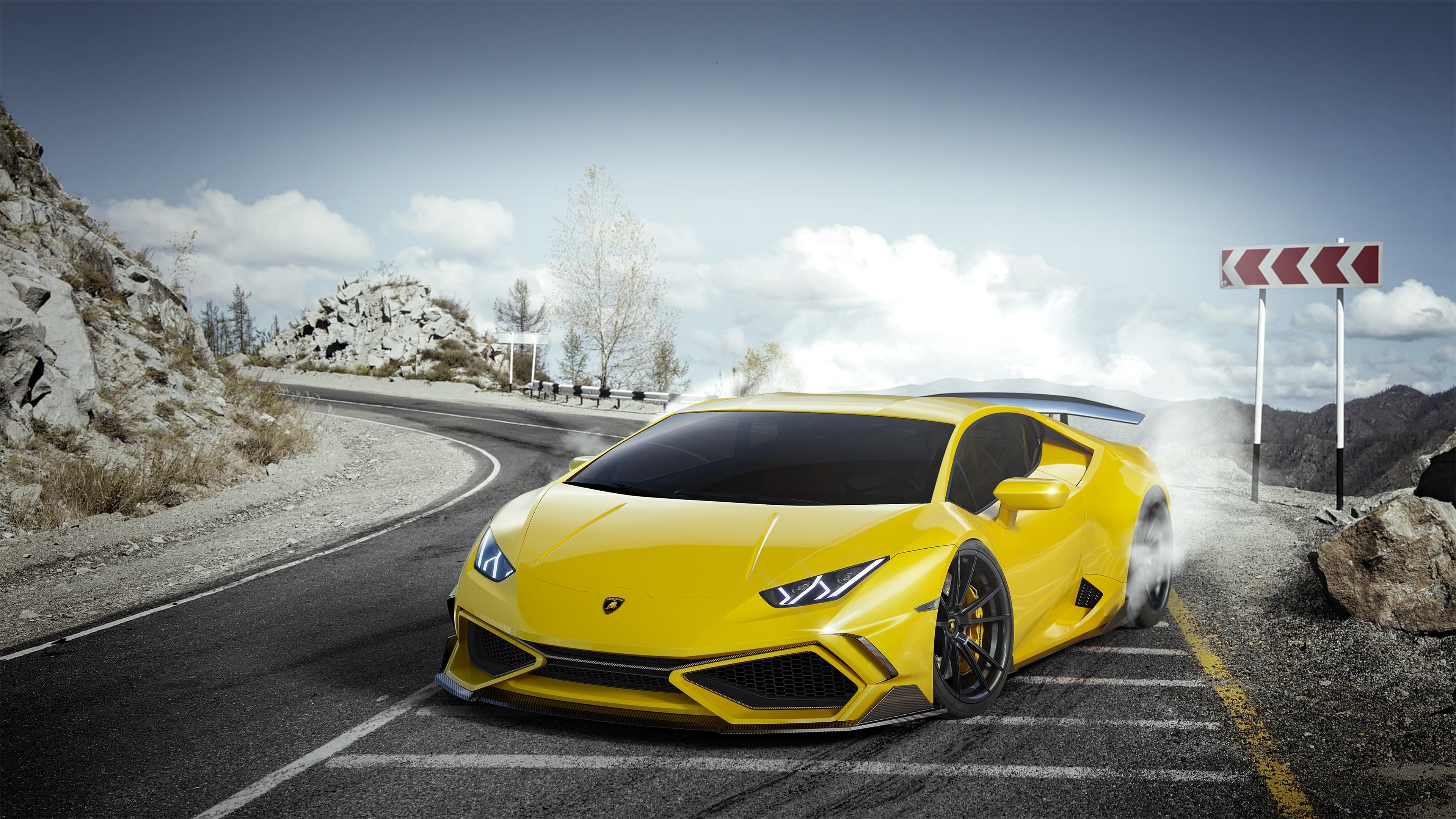 Yellow Lamborghini Huracan 4k Ultra Hd Wallpaper