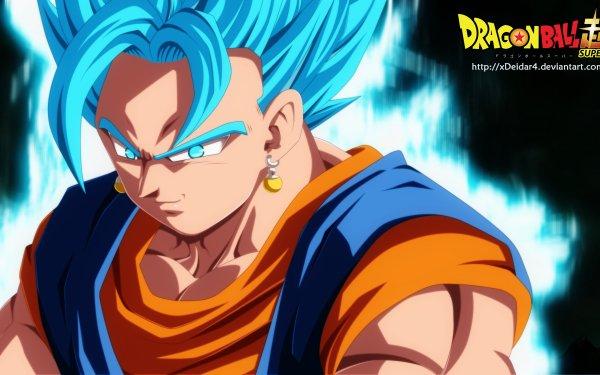 Anime Dragon Ball Super Dragon Ball Vegetto Super Saiyan Blue HD Wallpaper | Background Image