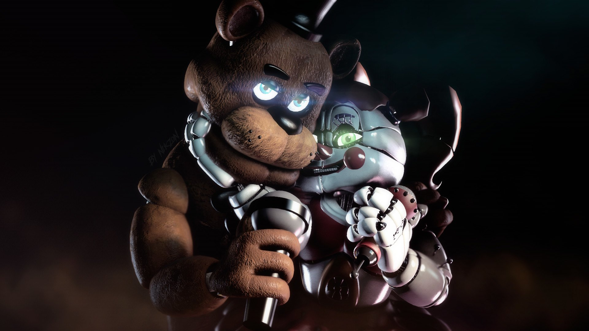 Baby Y Freddy Hd Wallpaper Background Image 1920x1080 Id