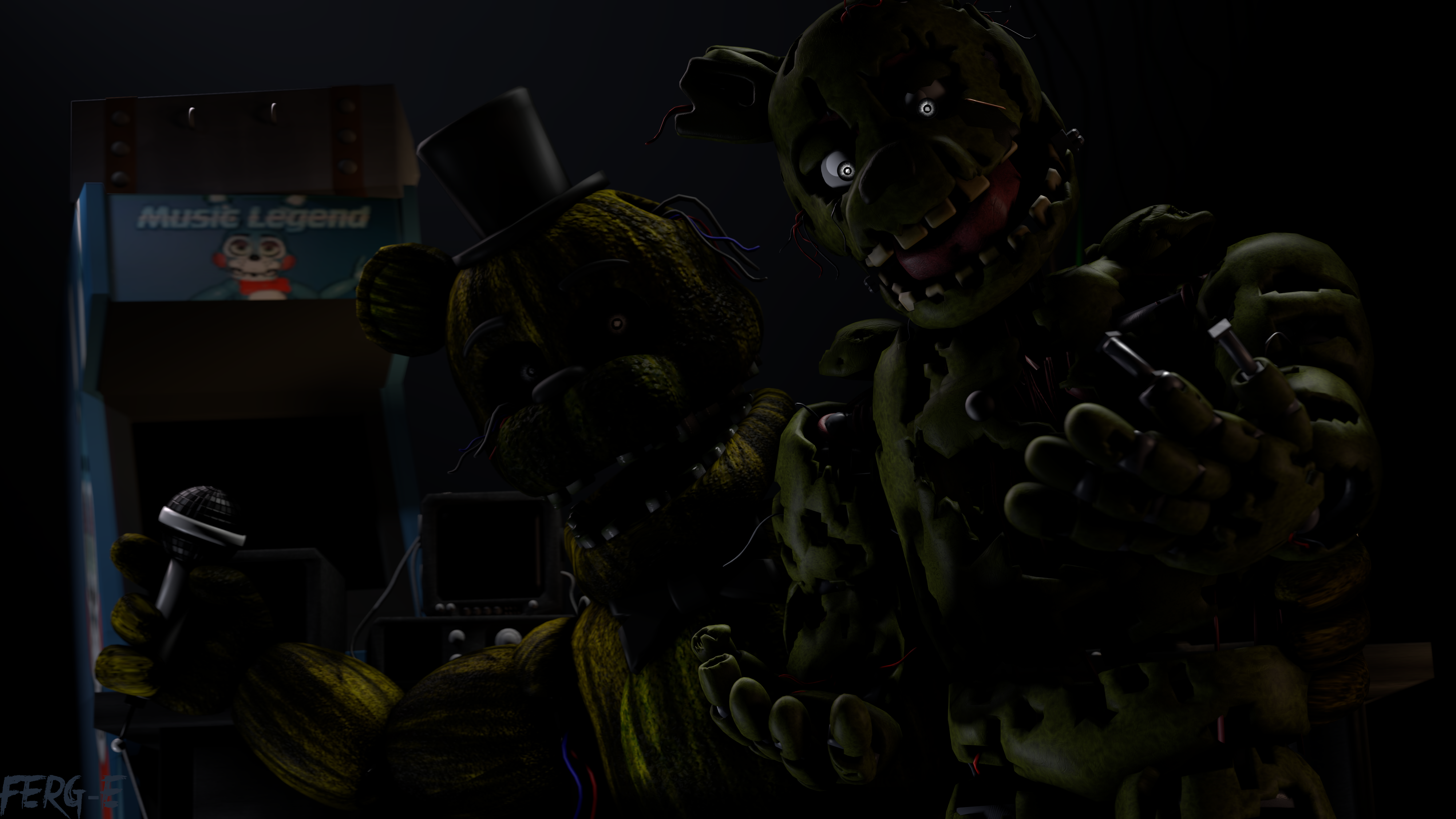 Five Nights At Freddy S 3 4k Ultra Hd Wallpaper Background Image
