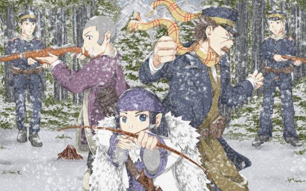 Anime Golden Kamuy Sugimoto Saichi Asirpa HD Wallpaper   Background Image