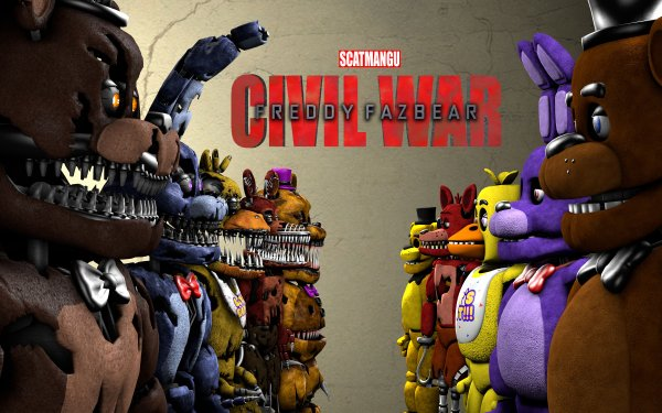 Video Game Crossover Captain America: Civil War Five Nights at Freddy's HD Wallpaper   Background Image