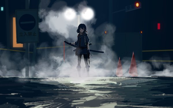 Anime Original Sword Assassin HD Wallpaper | Background Image