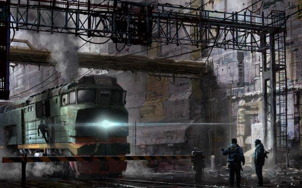 Sci Fi Vehicle Train HD Wallpaper | Background Image