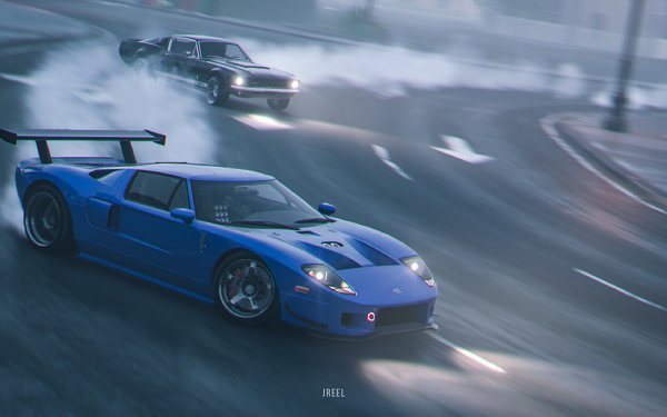 Video Game The Crew 2 Ford GT Ford Blue Car HD Wallpaper | Background Image