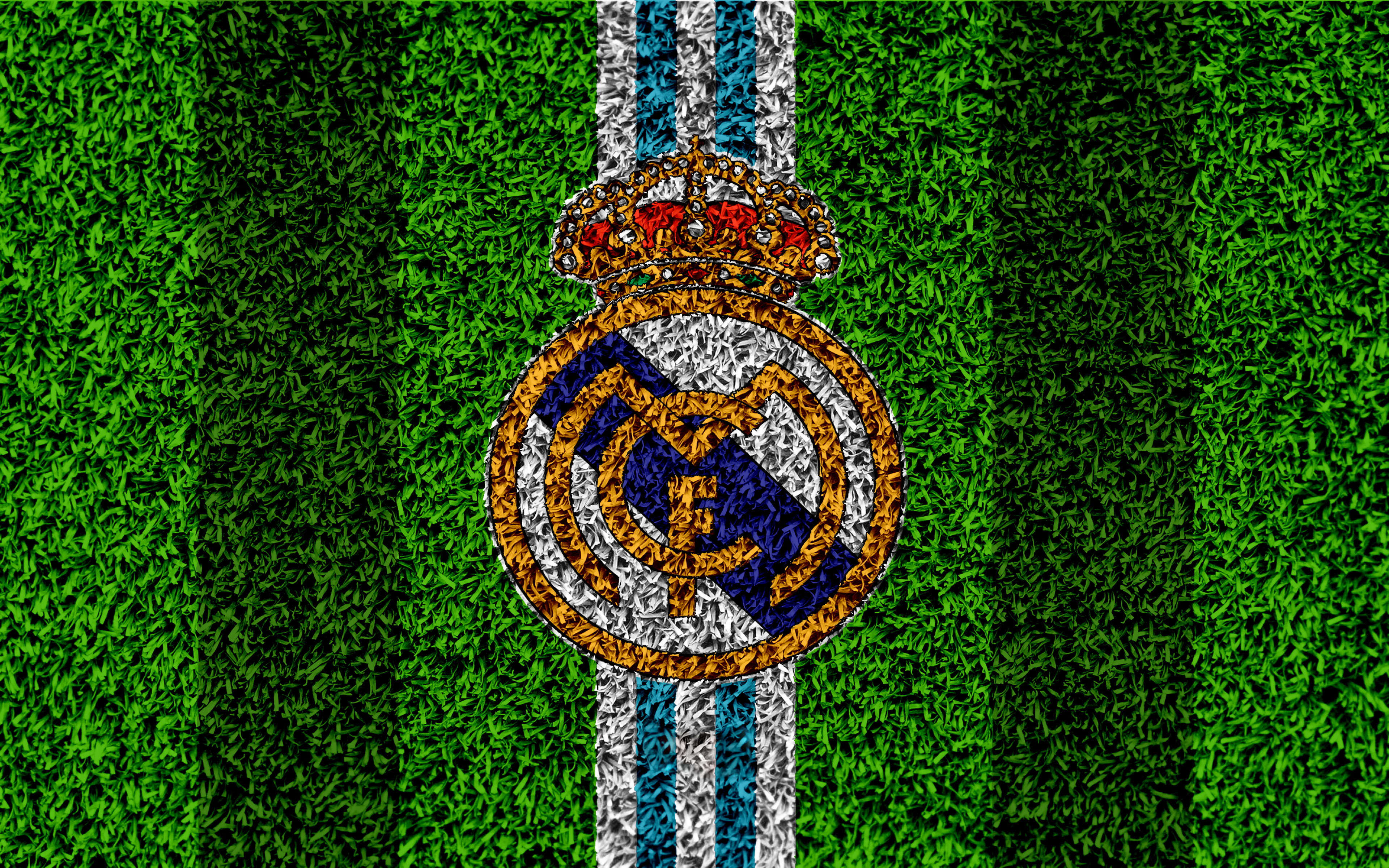 Real Madrid Logo 4k Ultra Hd Wallpaper Background Image