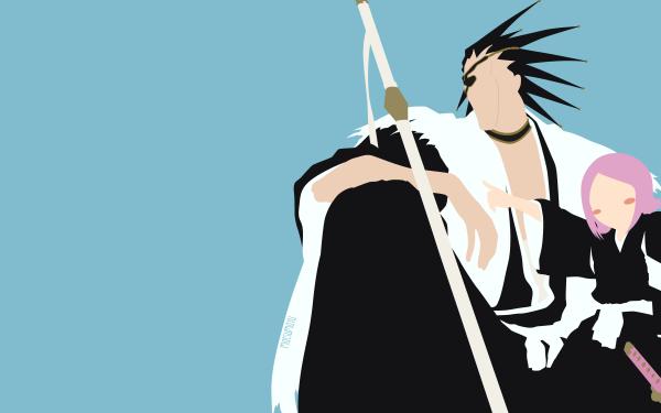Anime Bleach Kenpachi Zaraki Yachiru Kusajishi HD Wallpaper   Background Image