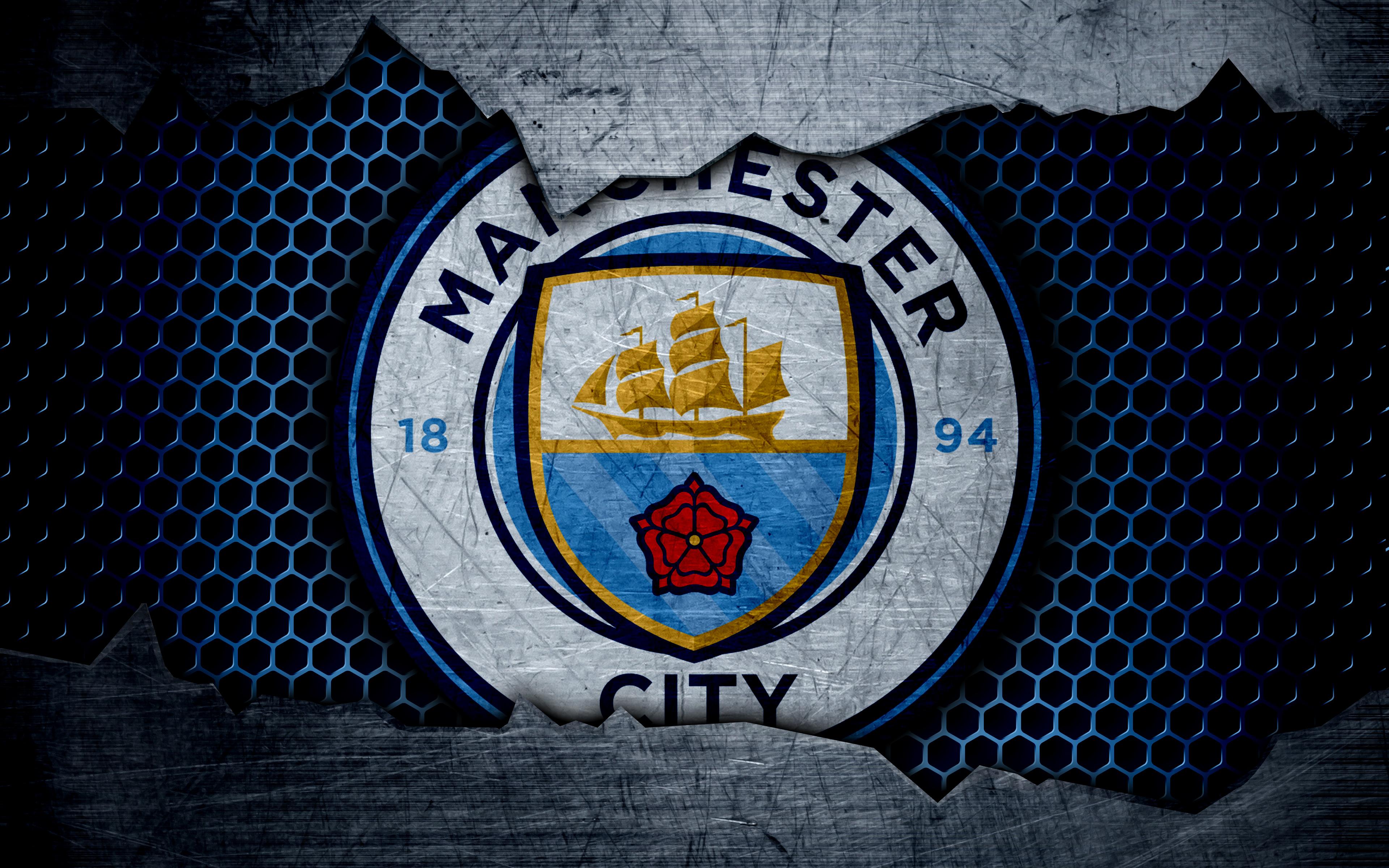 Manchester City Wallpaper: Manchester City Logo 4k Ultra HD Wallpaper