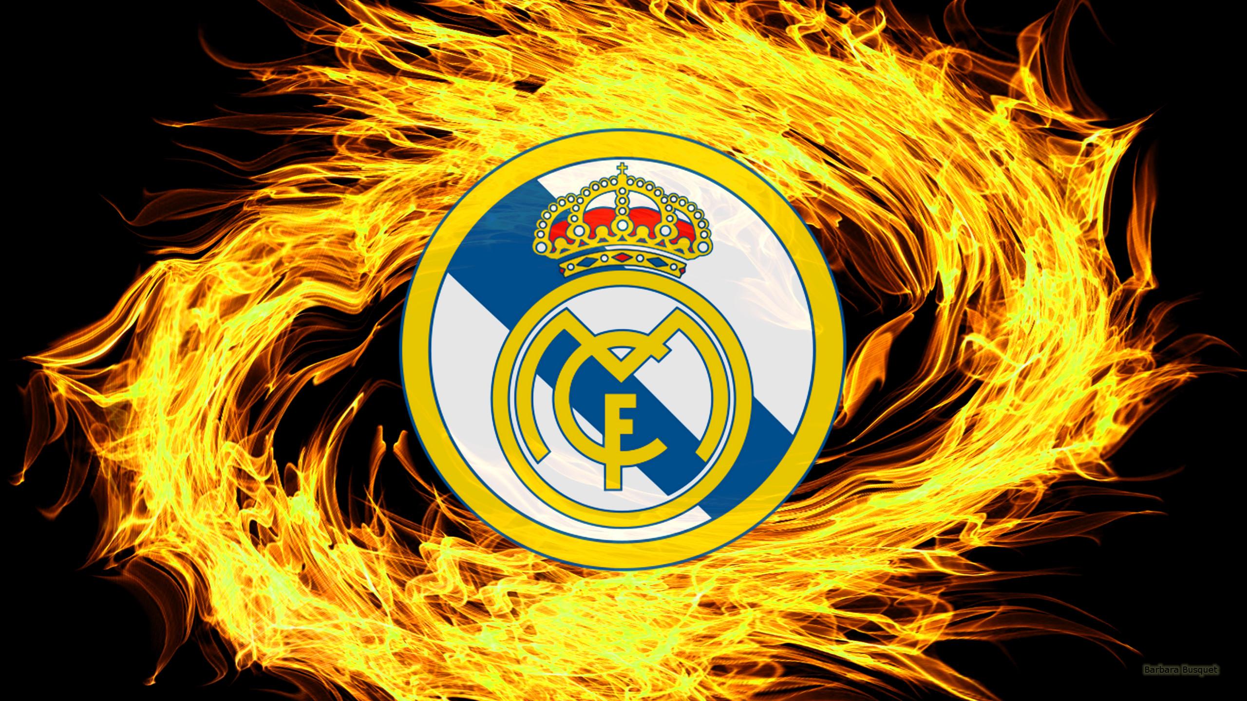 Real Madrid Logo Hd Wallpaper Background Image 2560x1440