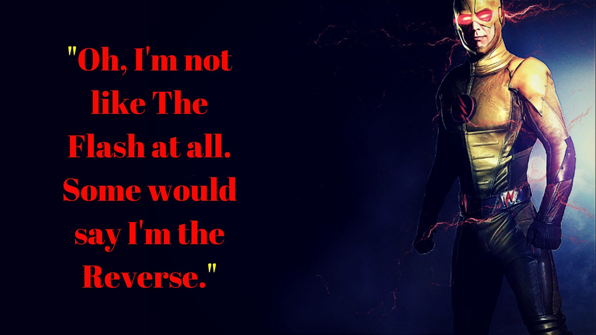 Reverse Flash Wallpaper With Quote Hd Wallpaper Background Image