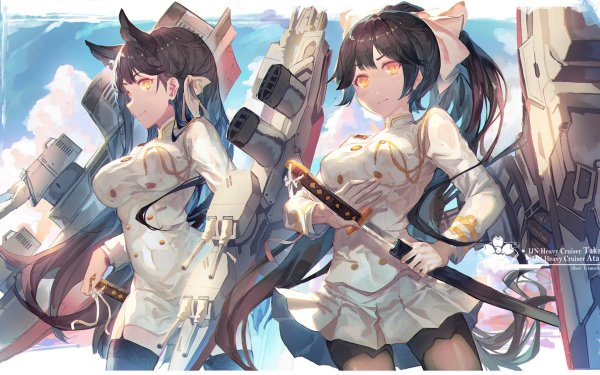 Anime Azur Lane Video Game Atago Takao HD Wallpaper | Background Image