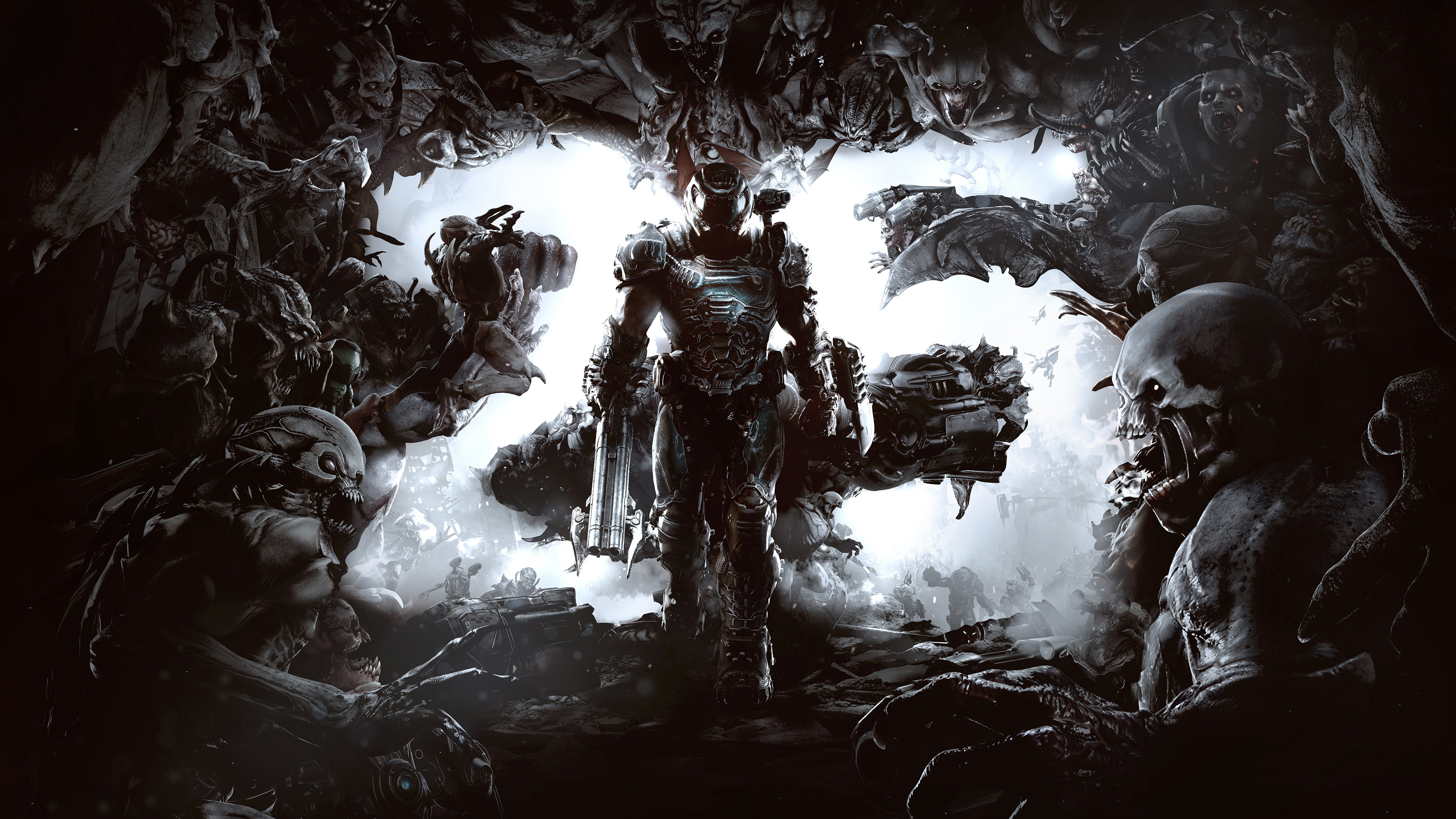 Doom 25th Anniversary 4k Ultra Hd Wallpaper Background Image 3840x2160 Id 975994 Wallpaper Abyss