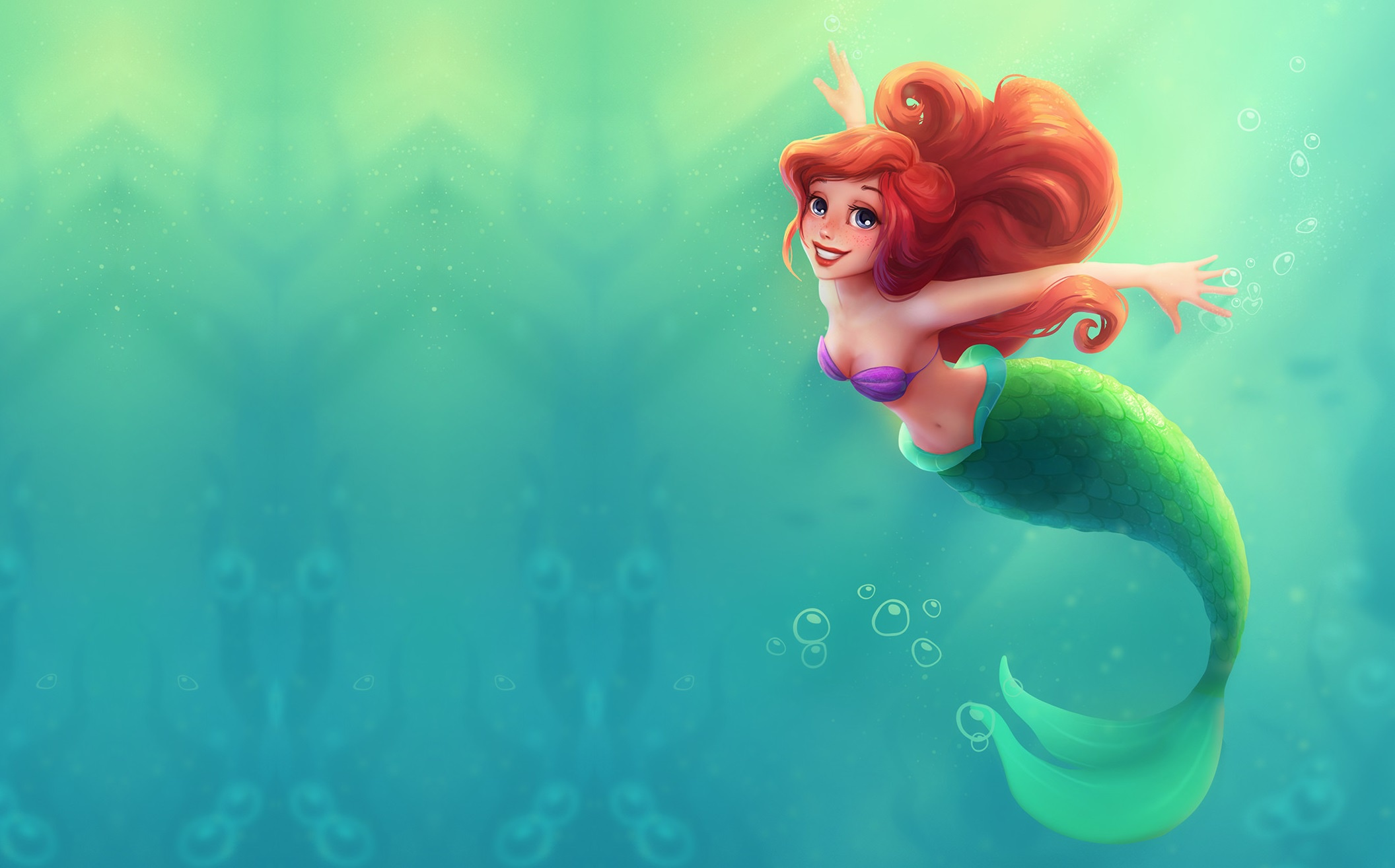 The Little Mermaid Hd Wallpaper Background Image