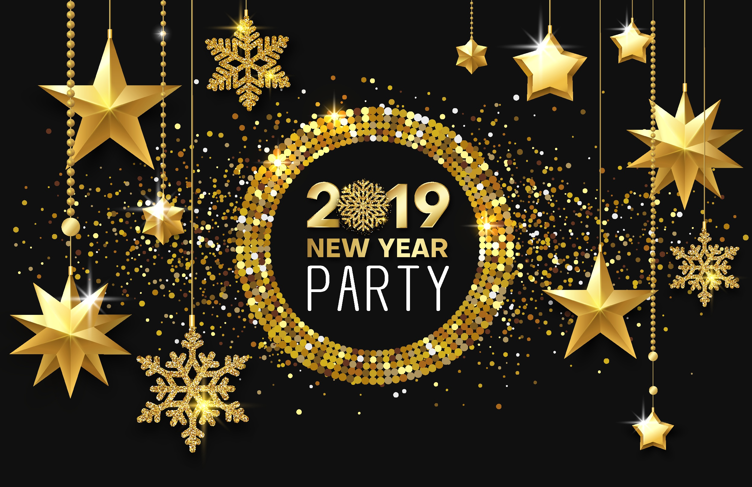 New Year 2019 HD Wallpaper  Background Image  2500x1621  ID