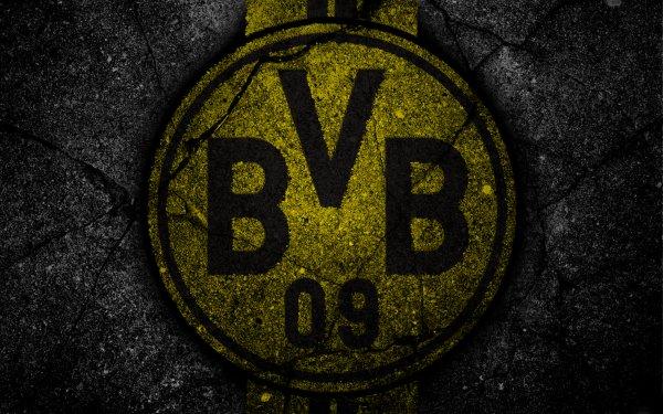 Sports Borussia Dortmund Soccer Club Logo Emblem BVB HD Wallpaper | Background Image