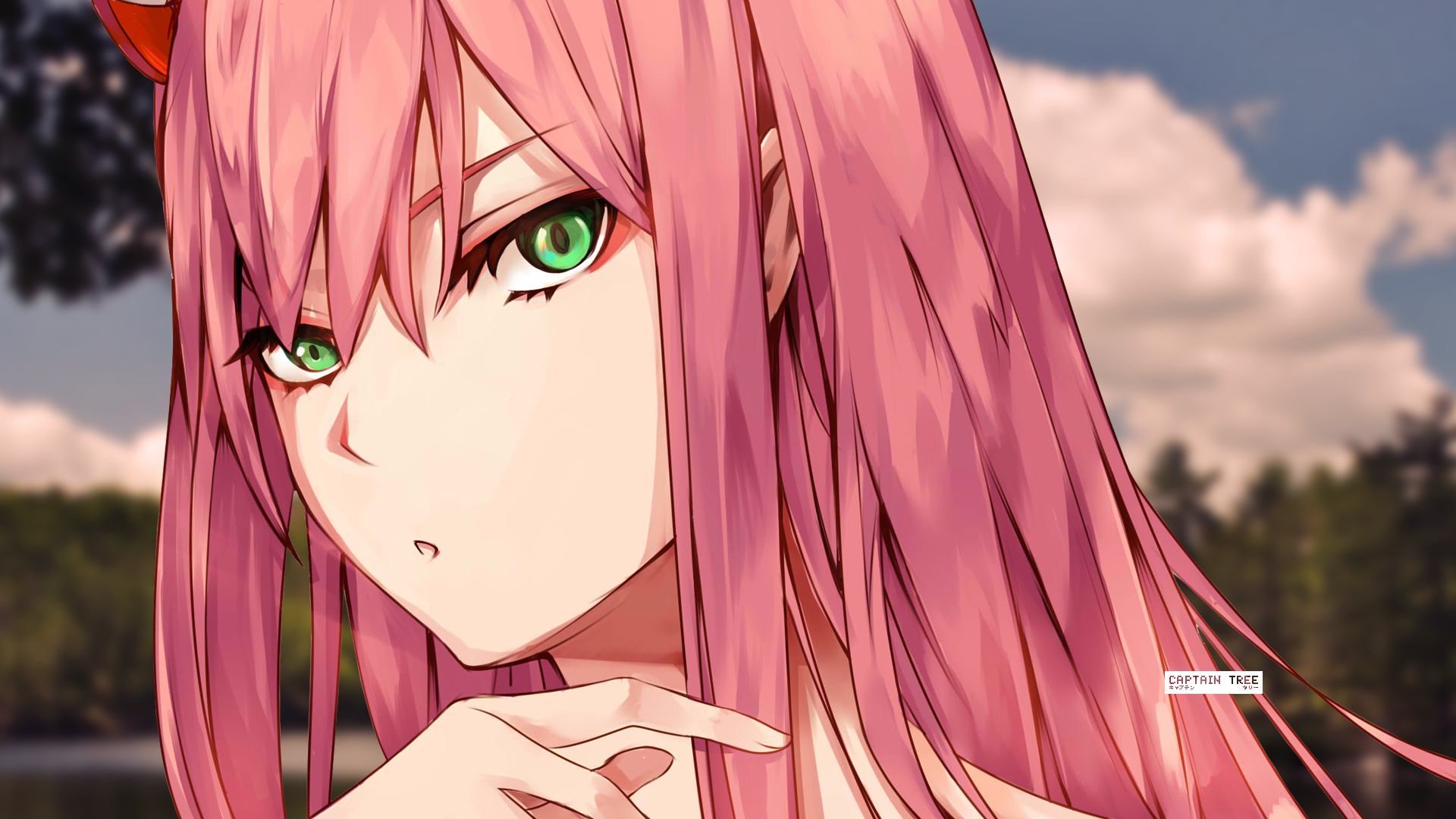 Zero Two Beauty Hd Wallpaper Background Image 1920x1080 Id 982014 Wallpaper Abyss