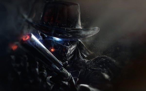Fantasy Warrior Gun Hat Cowboy HD Wallpaper | Background Image