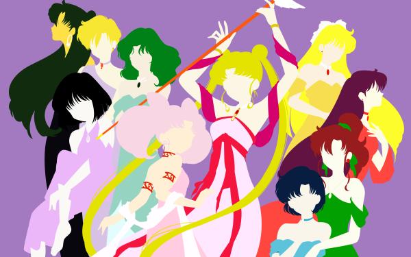 Anime Sailor Moon Setsuna Meiou Hotaru Tomoe Haruka Tenou Michiru Kaiou Chibi Usa Usagi Tsukino Ami Mizuno Makoto Kino Rei Hino Minako Aino HD Wallpaper | Background Image