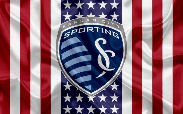 Sports Sporting Kansas City Soccer Club MLS Logo Emblem HD Wallpaper   Background Image