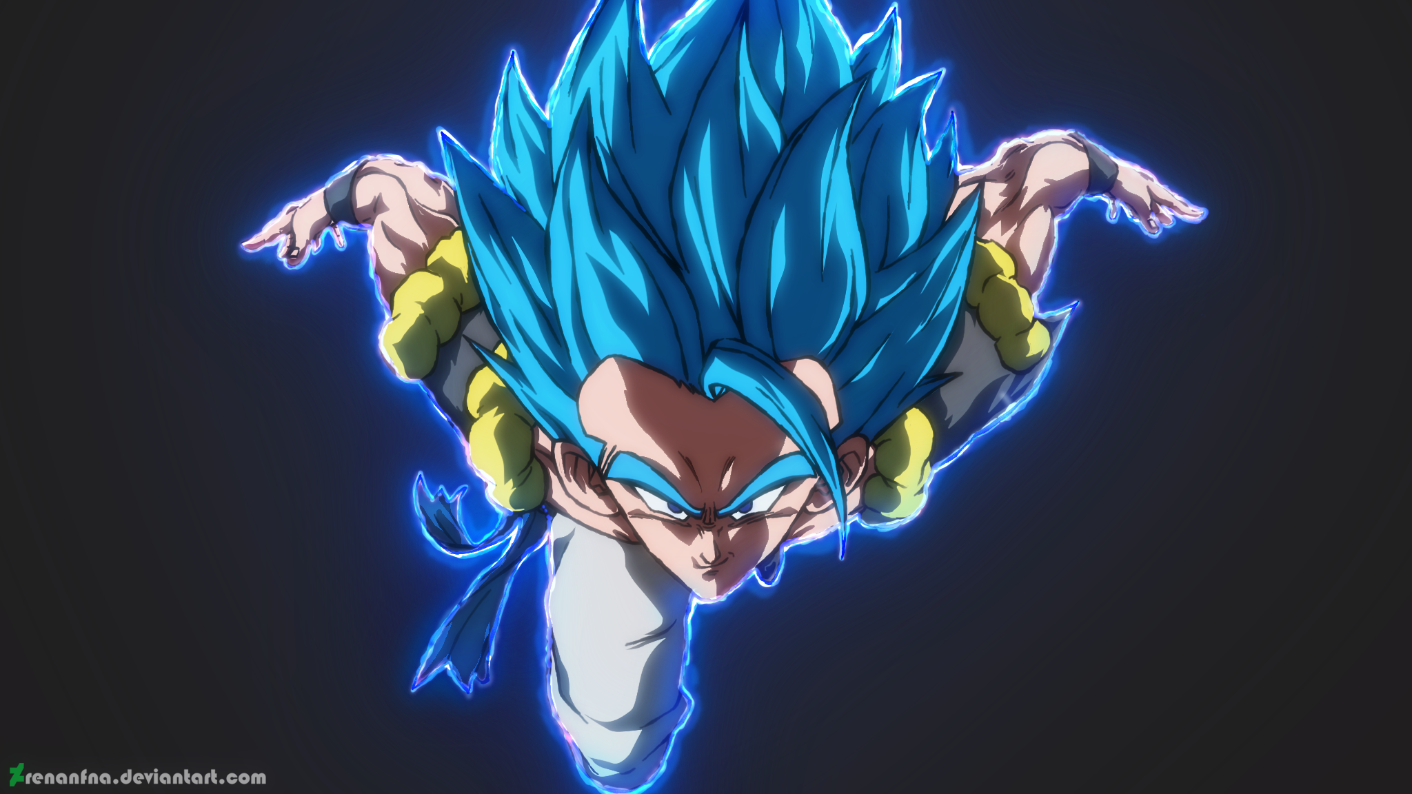 Gogeta Ss Blue Hd Wallpaper Background Image 2048x1152